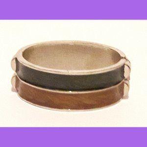 Metal Enamel Spring Open Bracelet